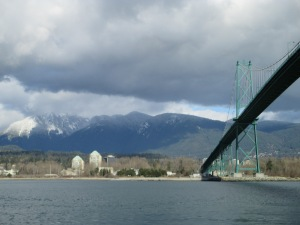 From Stanley Park toward Grouse Mountain