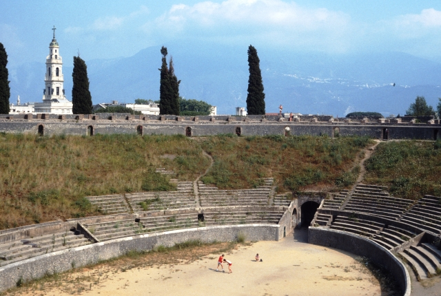 Pompeii Amphitheater in 1985