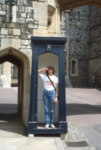 Channeling Benny Hill at Windsor Castle (respectfully)...