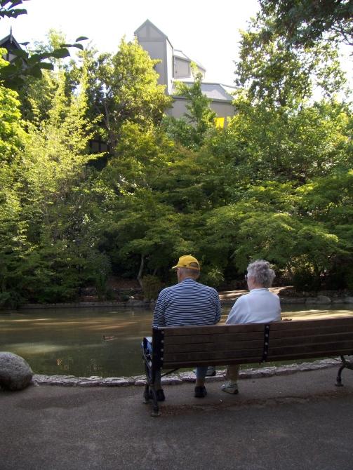 By the pond, Lithia Park, Ashland.