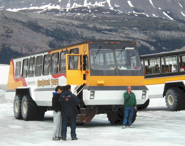 on a glacier!