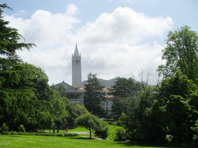 UC Berkeley campus presided over by the Campanile.