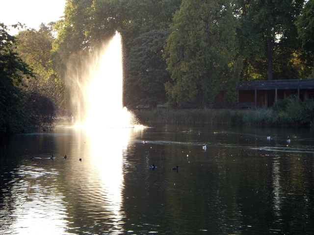 Wellspring of memories! (Or, you know, a St. James Park fountain.)