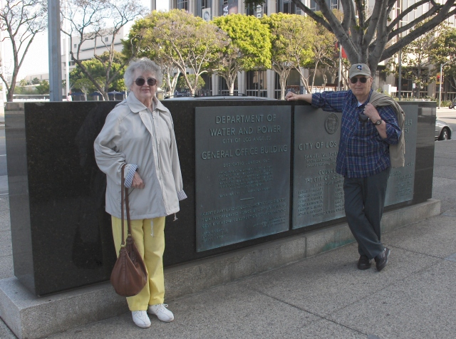 Mum and Dad at the DWP Building.