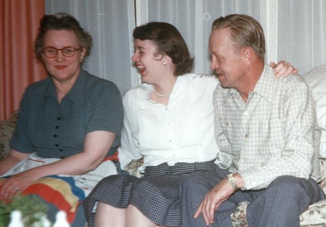 Grandma, Mum and Grandpa K.
