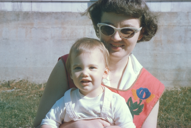 Mummy and me (ahem...) rather a long time ago!